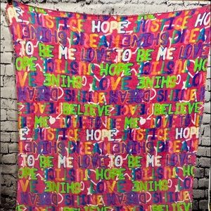 """Justice - Positive Affirmations 50"""" x 60"""" blankets"""